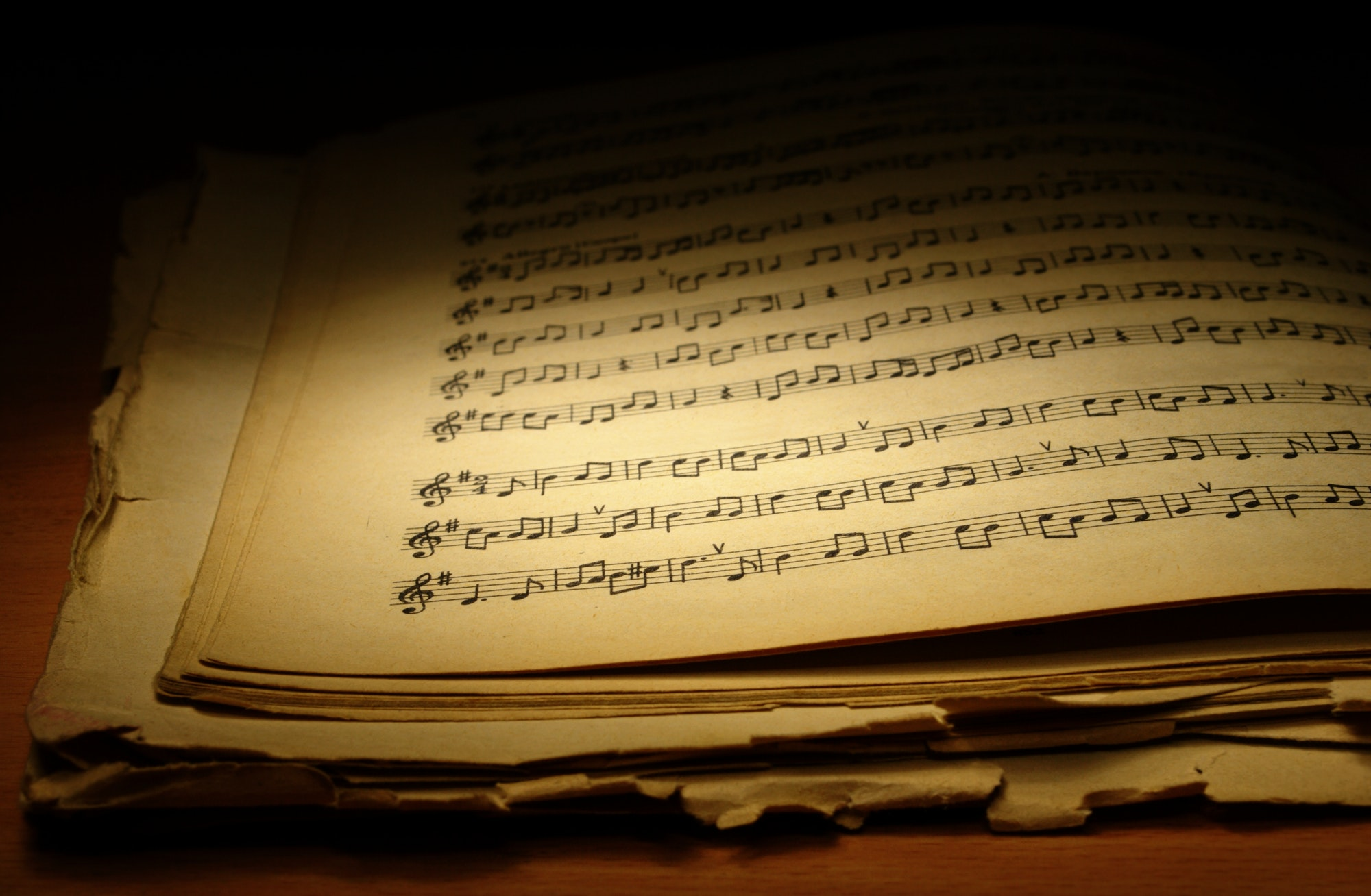 old music book