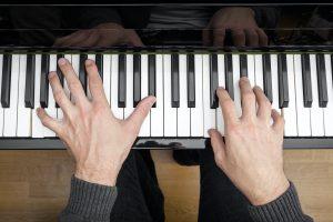 piano playing